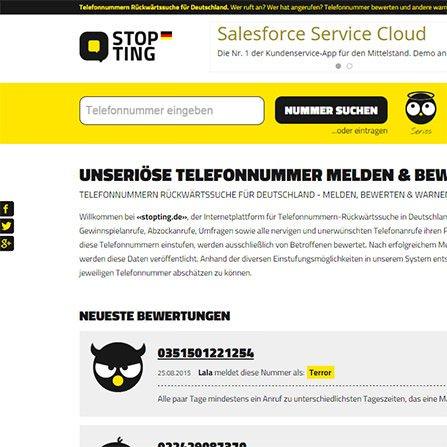 Stopting Website stopting.de